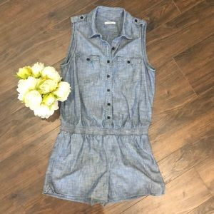 GAP Chambray Romper- size XS